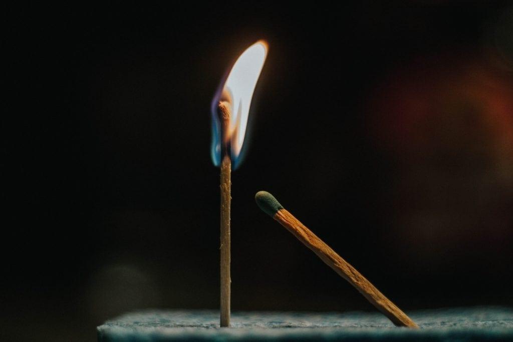 match being lit