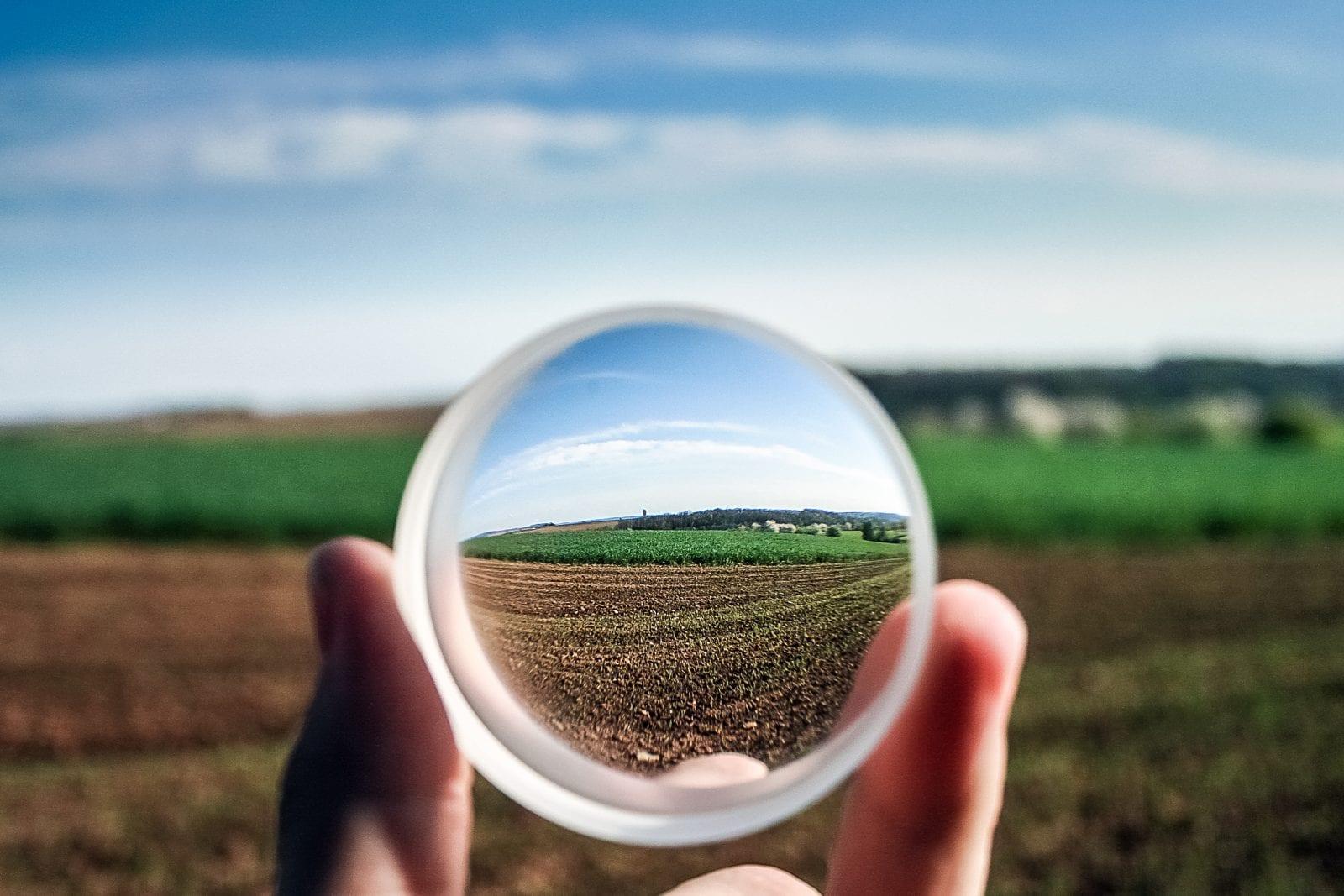 magnifying glass, lens